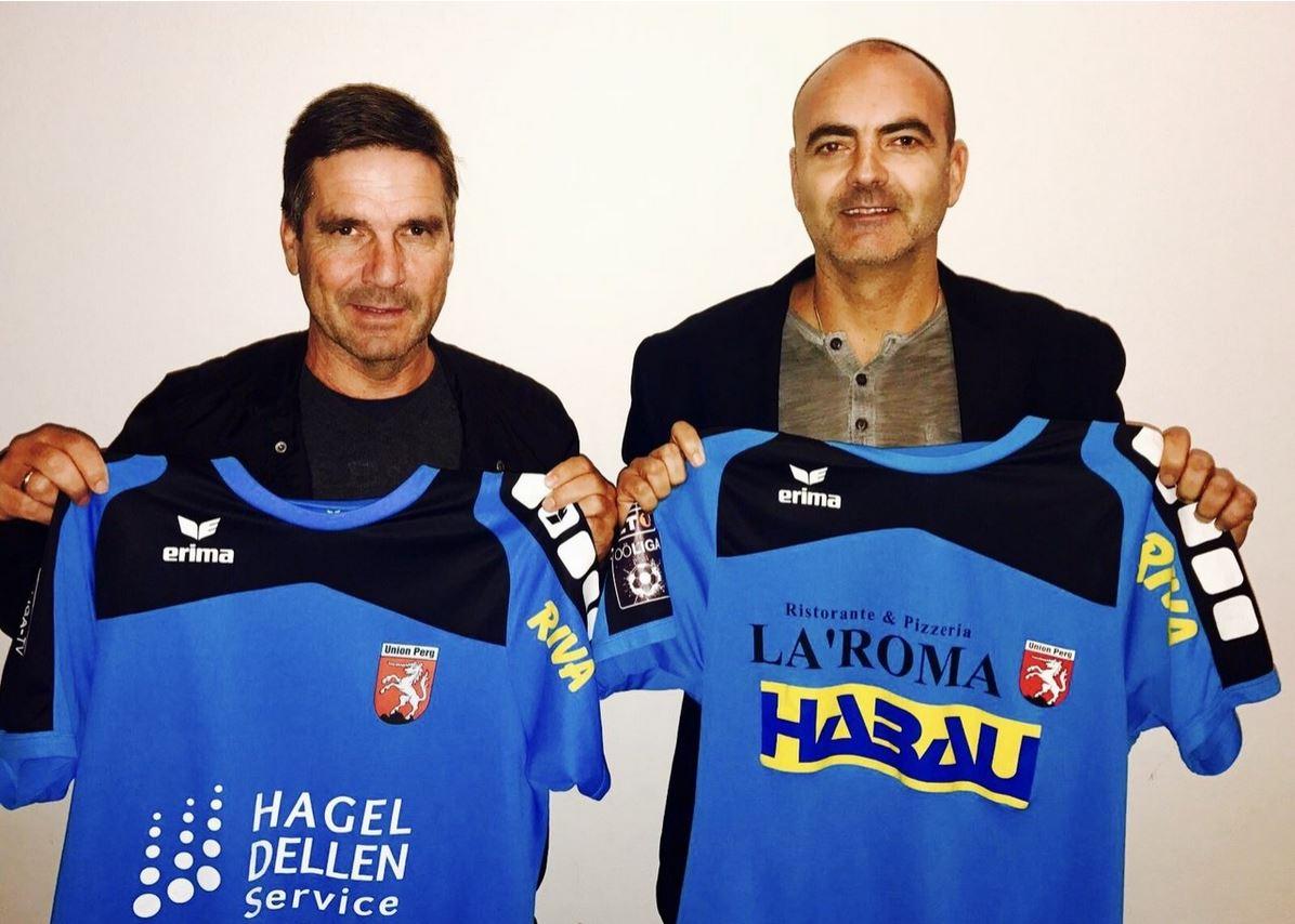 Neuer Trainer WilliWahlmueller und u.Sportchef Gerald Perzy